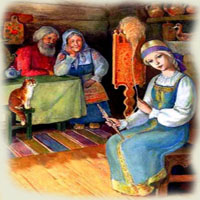 Poezii pentru copii - Fata babei şi fata moşneagului