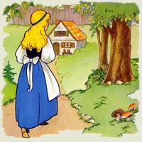 Poezii pentru copii - Fata moşului cea cuminte şi harnică şi fata babei cea haină şi urâtă