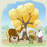 Poezii pentru copii - Pomul cu merele de aur