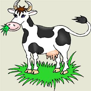 Poezii pentru copii - Ghicitoare despre vacă